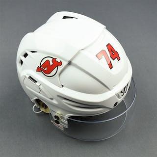 Yakovlev, Egor White, Warrior Helmet w/ Bauer Shield New Jersey Devils
