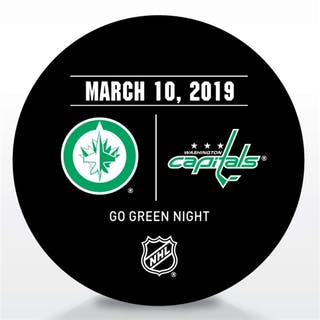 Washington Capitals Warmup Puck March 10, 2019 vs. Winnipeg Jets Washington