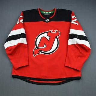 Lovejoy, Ben Red Set 1 New Jersey Devils 2018-19 #12 Size: 56