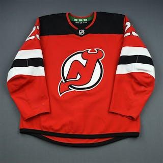 Noesen, Stefan Red Set 1 New Jersey Devils 2018-19 #23 Size: 56