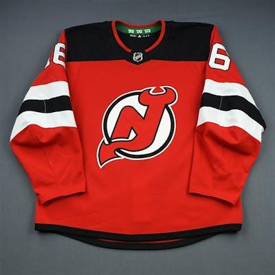 Santini, Steven Red Set 1 - Preseason Only New Jersey Devils 2018-19