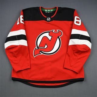 Stafford, Drew Red Set 1 New Jersey Devils 2018-19 #18 Size: 56