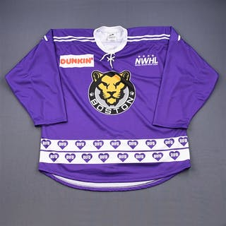 Murphy, Adelle Purple DIFD Warm-Up Jersey (Game-Issued) - March 2