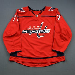 Oshie, T.J. Red Set 2 Washington Capitals 2018-19 #77 Size: 56