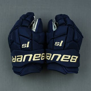 Dubois, Pierre-Luc Blue Third, Bauer Supreme 1S Gloves Columbus Blue