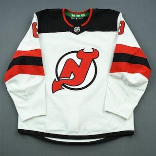 Butcher, Will White Set 2 New Jersey Devils 2018-19 #8 Size: 54