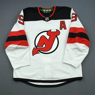 Hall, Taylor White Set 2 w/A New Jersey Devils 2018-19 #9 Size: 54