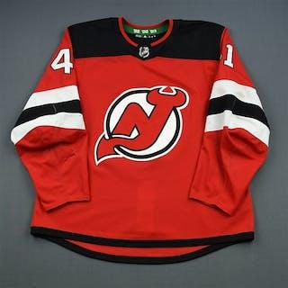 McLeod, Michael Red Set 1 New Jersey Devils 2018-19 #41 Size: 56