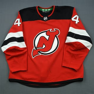 Wood, Miles Red Set 2 New Jersey Devils 2018-19 #44 Size: 58