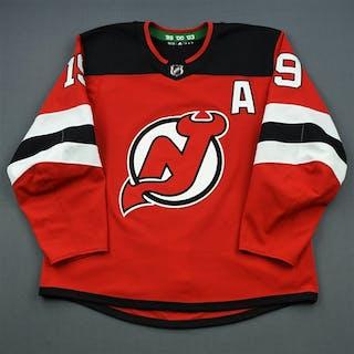 Zajac, Travis Red Set 3 w/A New Jersey Devils 2018-19 #19 Size: 56