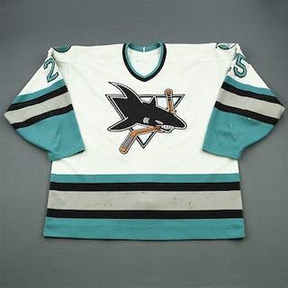 Kozlov, Viktor White - Photo-Matched San Jose Sharks 1996-97 #25 Size: 56