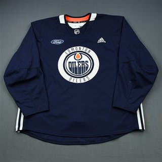 adidas Navy Practice Jersey w/ Ford Patch Edmonton Oilers 2018-19 # Size: 58+