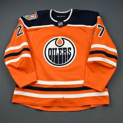 Lucic, Milan Orange Set 1 w/ 40th Anniversary Patch Edmonton Oilers