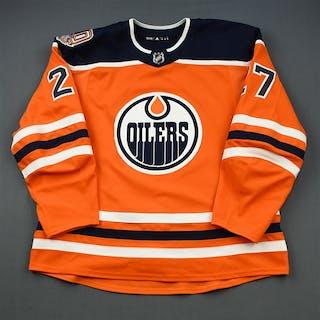 Lucic, Milan Orange Set 3 w/ 40th Anniversary Patch Edmonton Oilers