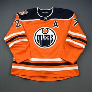 Lucic, Milan Orange Set 3 w/A, w/ 40th Anniversary Patch Edmonton