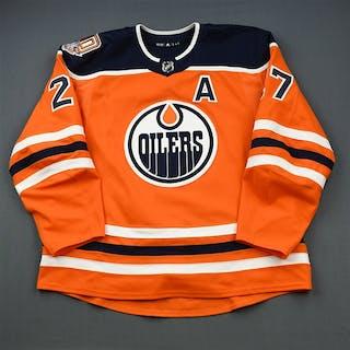 Lucic, Milan Orange Set 3 w/A, w/ 40th Anniversary Patch - 500th NHL