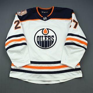 Lucic, Milan White Set 3 w/ 40th Anniversary Patch Edmonton Oilers