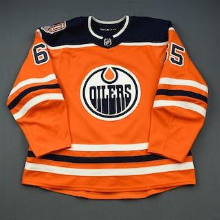 Marody, Cooper Orange Set 1 w/ 40th Anniversary Patch Edmonton Oilers