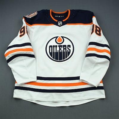 Puljujarvi, Jesse White Set 3 w/ 40th Anniversary Patch Edmonton Oilers