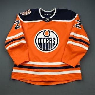 Rieder, Tobias Orange Set 3 w/ 40th Anniversary Patch Edmonton Oilers