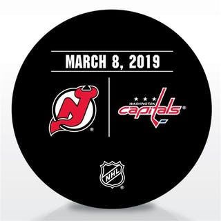 Washington Capitals Warmup Puck March 8, 2019 vs. New Jersey Devils