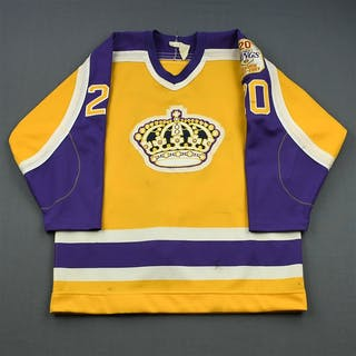 Robitaille, Luc * Gold w/Kings 20th Season Patch - Calder Trophy-winning