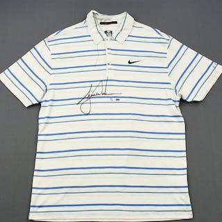 Woods, Tiger * White Nike Polo - Masters Third Round April 11, 2009