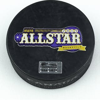 NWHL All-Star Game-Used Puck February 9-10, 2019 - Used in 2019 NWHL