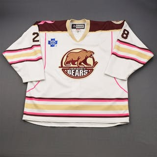 Orlov, Dmitri * White w/ pink piping and Bears 75th Season Patch -