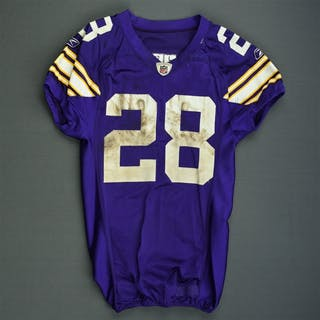 Peterson, Adrian * Purple Throwback - worn 11/29/09 vs. Chicago Bears