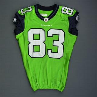 Branch, Deion * Lime Green - worn 9/27/09 vs. Chicago Bears - Photo-Matched