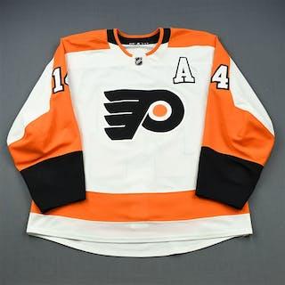 Couturier, Sean White Set 2 w/A Philadelphia Flyers 2018-19 #14 Size: 56
