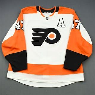 MacDonald, Andrew White Set 2 w/A Philadelphia Flyers 2018-19 #47 Size: 54
