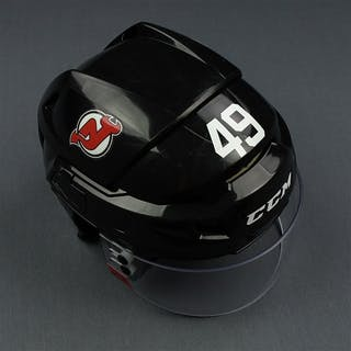 Anderson, Joey Black, CCM Helmet w/ Oakley Shield New Jersey Devils