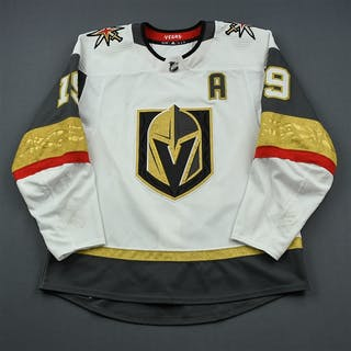 Smith, Reilly White Set 3 w/A - 300th Career Point Vegas Golden Knights