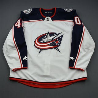Cockerill, Garret White Set 1 - Training Camp Only Columbus Blue Jackets