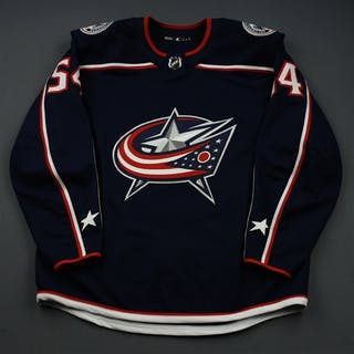 Koules, Miles Blue Set 1 - Game-Issued (GI) Columbus Blue Jackets