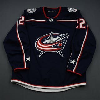 Milano, Sonny Blue Set 2 - Game-Issued (GI) Columbus Blue Jackets