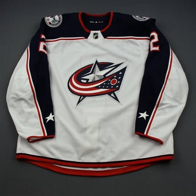 Peeke, Andrew White Set 3 - Game-Issued (GI) Columbus Blue Jackets