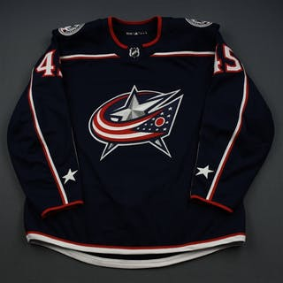 Sedlak, Lukas Blue Set 3 - Game-Issued (GI) Columbus Blue Jackets