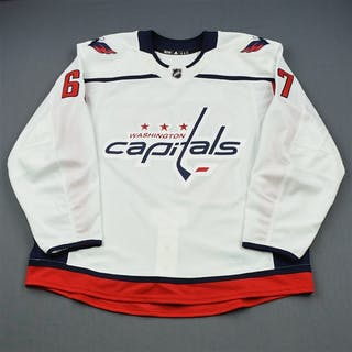 Sutter, Riley White Set 1 - Game-Issued (GI) Washington Capitals 2018-19