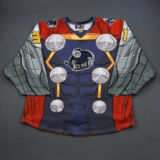 Phinney, Colton Thor - Game-Worn Jersey - Nov 17-18 Jacksonville Icemen