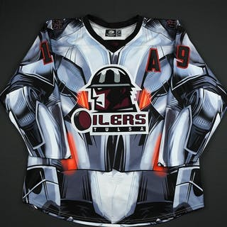 Sides, Joey Black Ultron Jersey - Autographed w/A - First Period Only