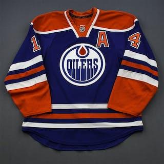 Eberle, Jordan Blue Set 2 w/A Edmonton Oilers 2014-15 #14 Size: 54