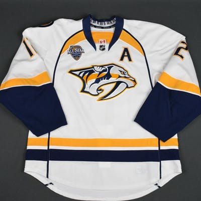 Fisher, Mike * White Set 2 w/A, w/ All-Star Game Patch Nashville Predators