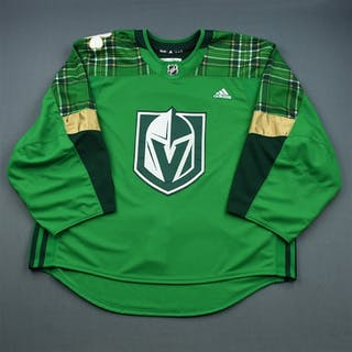 """Blank - No Name or Number Green """"St. Patrick's Day"""" Warm-Up (Adidas"""
