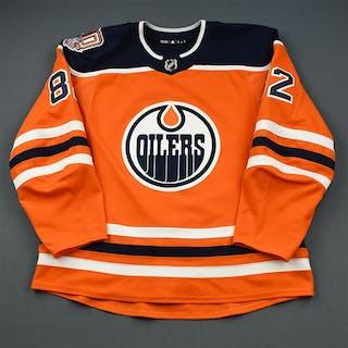 Jones, Caleb Orange Set 1 w/ 40th Anniversary Patch Edmonton Oilers