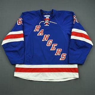 Nash, Rick * Blue Set 2, Worn November 26 - January 13 New York Rangers