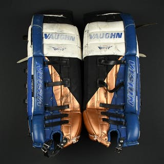 Ranford, Bill * Vaughn, Blue, White, Copper & Black Leg Pads - PHOTO-MATCHED