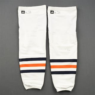 McDavid, Connor White - adidas Socks - November 7, 2017 at New York